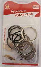 Lot de 10 pièces anneaux porte clés porte clef 32 mm en inox
