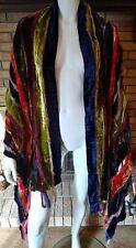 ETRO Multi Colored Velvet Pieces Shawl/Wrap