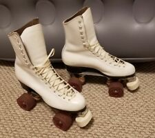 Women Vtg. Riedell Pacer Crown Roller Skates size 8 Crest Reflections Wheels