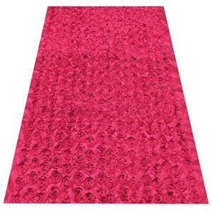 Anti-slip 3D Rose Flower Wedding Stage Floor Long Carpet Aisle Runner Mats  !P