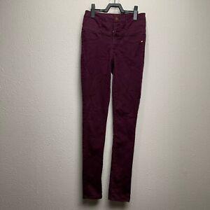 Refuge Women's Maroon Skinny Jeggings Jeans Size 2