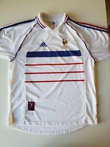 Vintage Adidas 1998 France World Cup Soccer Away Jersey  White Men L