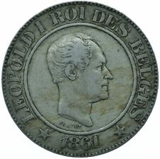 More details for coin / belgium / 20 centimes 1861 beautiful xf   #wt24506