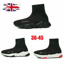 UK Men's Women's Trainers Slip-on Knit Sock Running High top Sneaker Shoes