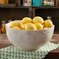 The Pioneer Woman Farmhouse Lace 10-Inch Serving Bowl, Linen