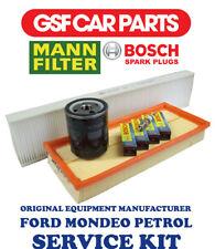 Service Kit Oil Air & Pollen Filters & Spark Plugs Ford Mondeo 1.8 16V 2.0 16V