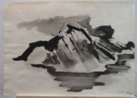 Paul Kamper '60s Abstract Expressionist WC Important Modern German/Dutch Artist