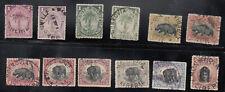 Liberia # 54-63 + 54a 60a Color Varieties USED 1897-1905 Fauna Elephant Hippo