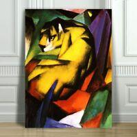"FRANZ MARC - Tiger - CANVAS ART PRINT POSTER - Abstract Cat - 24x16"""