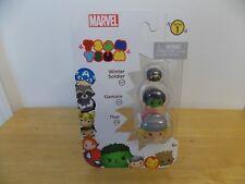 Marvel Tsum Tsum Series 1 Winter Soldier, Gamora, & Thor Figurines