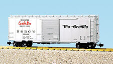 USA Trains G Scale R19209c RG W/8' YOUNGTOWN - SILVER   PS1 Box Car