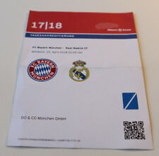 old press ticket CL Bayern Munchen Real Madrid 2018 Germany Spain