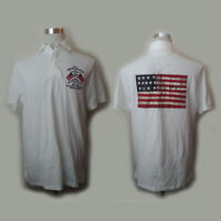 POLO Ralph Lauren Men Size M AMERICANA White USA Embroidered Shirt Classic Fit