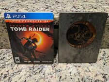 Shadow of The Tomb Raider Limited Steelbook Edition Playstation 4 Ps4 Free Ship!