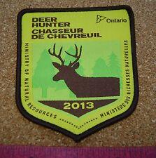 2013 ONTARIO MNR DEER HUNTING PATCH badge,flash,crest,moose,bear,elk,Canadian