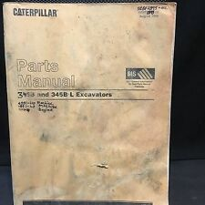 Caterpillar 345B L Excavator Parts Manual 4SS 9GS SEBP2893-02  2nd revision 8/99