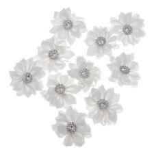 10pcs Satin Ribbon Flower Craft Diy Supplies Wedding Appliques Decoration