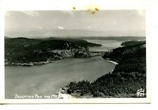 Deception Pass-Mt Baker Scenic View-Washington-RPPC-Vintage Real Photo Postcard