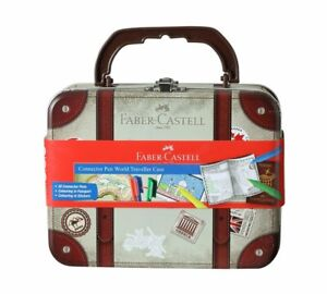 Faber-Castell World Traveller Case (30 Sketch pens,1 Coloring Book & 2 Stickers)