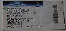 Ticket for collectors CL Celtic Glasgow FC Copenhagen 2006 Scotland Denmark