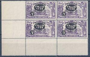 ESPAÑA EDIFIL 761 BH 4x** MNH 1938 fiesta del trabajo 1938 HABILITADOS (26€)