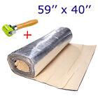 """Sound Deadener Heat Insulation Mat For Trunk Floor Firewall Noiseproof 59""""x40"""" A"""