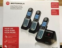 Motorola DECT 6.0 Cordless Phone with 3 Handsets Digital Answering System and...