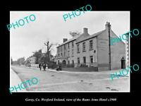 OLD LARGE HISTORIC PHOTO OF GOREY WEXFORD IRELAND, THE RAMS ARM HOTEL c1900