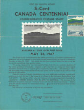 #1324 5c Canada Centennial Stamp Poster w/#961- Unofficial Souvenir Page FD MC