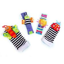 Cotton Rattle Set Baby Sensory Toys Foot-finder Socks Wrist Rattles Bracelet New