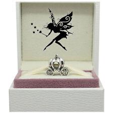 Cinderella Princess Pumpkin Carriage Silver Charm Bead - Ideal Christmas gift