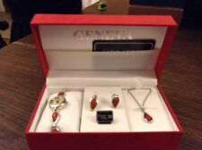 Geneva Watch Set With Matching Necklace And Earings