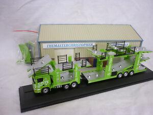 Oxford Diecast/Modern 1:76th Truck Scania Car Transporter Green Tiger 76SCT004