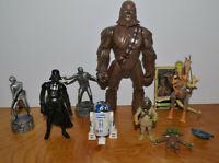 STAR WARS Action Figure & Accessories Mixed Lot R2D2 Darth Vader Custom Fodder