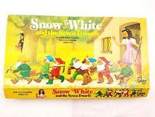Snow White and the Seven Dwarfs Story Board Game Vintage 1977 Cadaco Disney USA