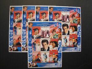 Nigeria Souvenir Stamp Sheets MNH OG Lot of 5 Topic: Memory of JFK JR