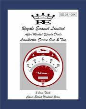 Royale Designed 100KPH ULMA Speedo Dial Lambretta S1 S2 Super Vigano SD1.100K