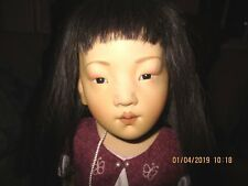 """Beatrice Perini Junko Asian Girl 17"""" Full Bodied Porcelain Doll #13 of Only 25"""