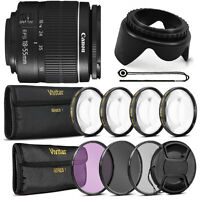 Canon EF-S 18-55mm f/3.5-5.6 III Lens + Accessory Bundle for Canon EOS T5 T6 T6i