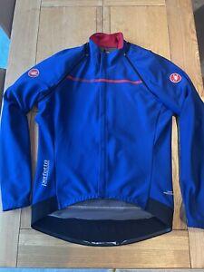 Castelli Perfetto Convertible Mens Cycling Gabba Jacket Blue XXL 2XL Goretex