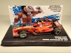 Ferrari f2007 K. Raikkonen winner australian gp 2007 1:43 F1 no minichamps