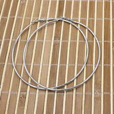 Pendientes para Mujer Uno Aros 40 mm de 50s Color Plateado Woman Hoop Earrings