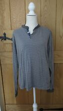 MENS TOP AMBROSE & JACKSON BROWN STRIPE SIZE X LARGE CHEST 48 INCH