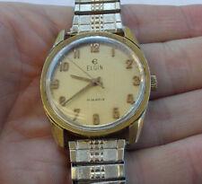 RARE Vintage Elgin Men's Wind Up Watch Wristwatch Working Great Shape 17 Jewels