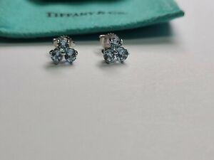 Tiffany & Co. 18k White Gold Aria Aqua Earrings