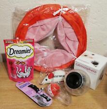Cat Gift Bundle; Dreamies Treat Dispenser Toy Royal Canin Tunnel Collar Job Lot