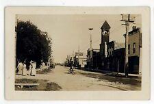 RPPC Stephen Street Bicycle MORDEN MB Vintage Manitoba Real Photo Postcard