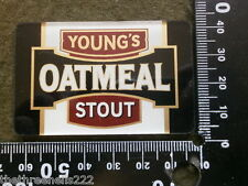 PERSPEX BEER PUMP CLIP - YOUNGS OATMEAL STOUT