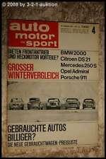 AMS Auto Motor Sport 4/67 Fiat Dino Porsche 911 Citroen DS 21 DB 250 S