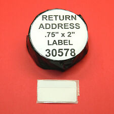 3500 RETURN ADDRESS /  BARCODE LABELS fit DYMO 30578 - BPA Free